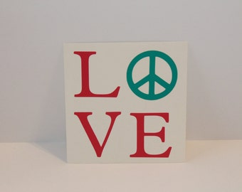 Love Decal, Peace Decal, Love & Peace Decal, Valentine Decal, Love Sticker, Peace Sticker, Love and Peace Sticker, Valentine Sticker