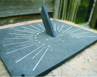 Garden Sundial made from Recycled Plant Pots