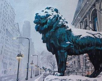 Chicago Art Institute Lions