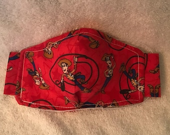 Kid's Mask - Designed for ages 2-8 - Disney - Sheriff Woody on Red