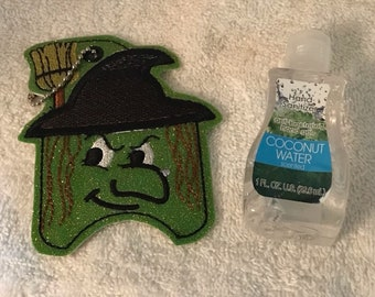 Hand Sanitizer Holder - Free Shipping - Holiday Themed - Witch