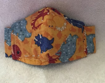 Kid's Mask - Designed for ages 2-8  -Dinosaurs