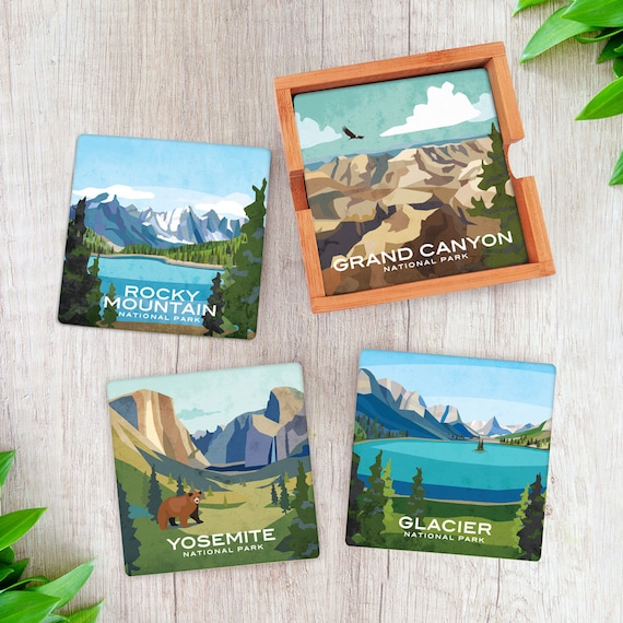 Build Your Own Set of National Parks Coasters  Any Quantity