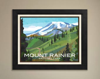 Mount Rainier National Parks Print