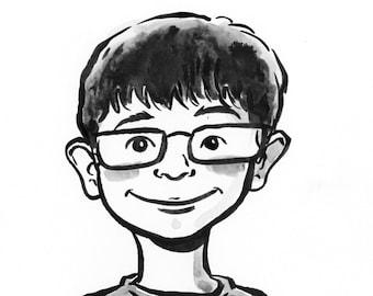 Ink Drawing of Your Child by Jarrett J. Krosoczka