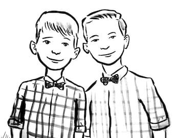 Ink Drawing of Your Children (2) by Jarrett J. Krosoczka