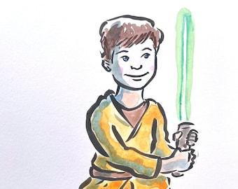 Hero Portrait by Jarrett J. Krosoczka—Color