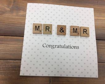 Mr & Mr Wedding Card, wedding day card