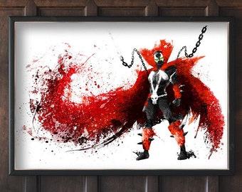 Spawn poster. spray splattered art print