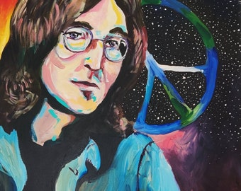 ACEO Celebrity John Lennon Pop Art Canvas Giclee Print