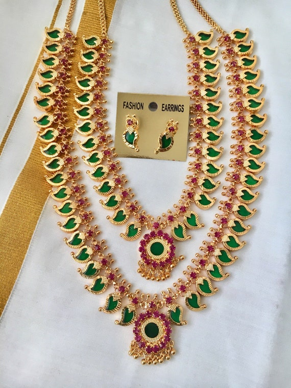 Palakka Mala Traditional Gold Necklace Designs Kerala