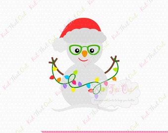 40c0fa9e476 Exclusive Snowman with Glasses SVG   DXF Cut File