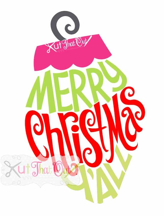 Merry Christmas Ornament Svg.Exclusive Merry Christmas Y All Ornament Design Svg Dxf Cut File