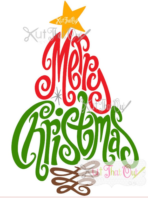 exclusive merry christmas tree svg and dxf file etsy