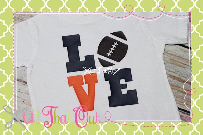 Download Football Love Design SVG file   Etsy