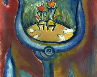 Kabbalah Prints - Themes of Tulips and Tree of Life