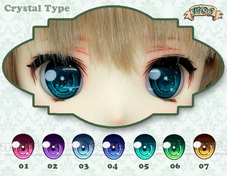 Anime Eyes Crystal type 22mm 24mm UV Resin image 0