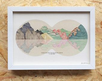 illustration mountains A4
