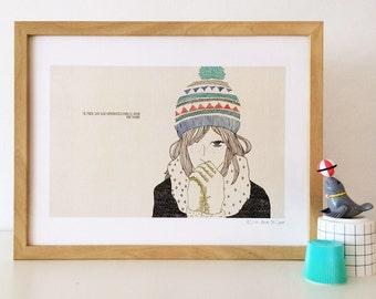 """naif """"naive"""" inspired illustration, limited edition print (homeopathy)"""
