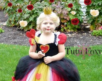 Queen of Hearts Tutu Dress, Queen of Hearts Costume, Alice in Wonderland Costume, Alice in Wonderland Tutu Dress,