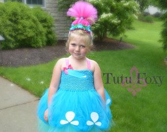Poppy Troll tutu dress, poppy tutu dress, poppy dress, Troll Tutu, Trolls Birthday, Poppy Outfit, Poppy Costume, Trolls Costume