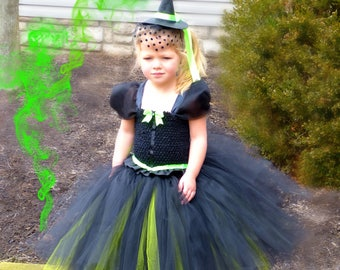 Wicked Witch Tutu Dress, Wicked Witch Costume, wicked witch Dress, Wizard of Oz Tutu Dress, Wizard of Oz Birthday