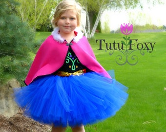 Anna Tutu Dress, Anna Costume, Frozen Costume, Anna Dress, Princess Tutu Dress, Frozen Birthday, Princess Costume