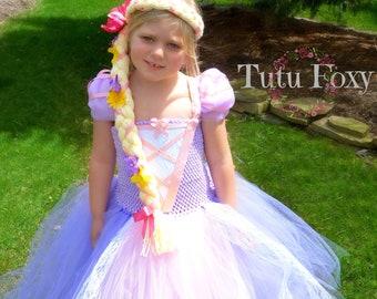 Princess Costume, Rapunzel Tutu Dress, Rapunzel Dress,  Rapunzel Costume, Princess Dress, Princess Tutu Dress, Rapunzel Birthday Outfit