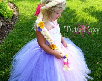 Rapunzel Tutu Dress, Rapunzel Dress,  Rapunzel Costume, Princess Dress, Princess Costume, Princess Tutu Dress, Rapunzel Birthday Outfit
