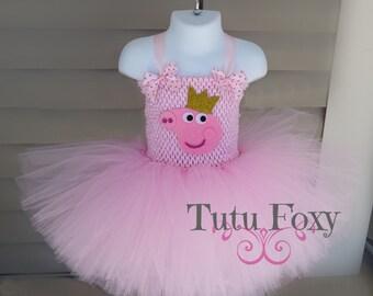 b564e42fc308 Peppa Pig Tutu Dress, Peppa Pig Costume. Peppa Pig Dress, Peppa Pig  Birthday Tutu, Peppa Pig Tutu, Peppa Pig Birthday
