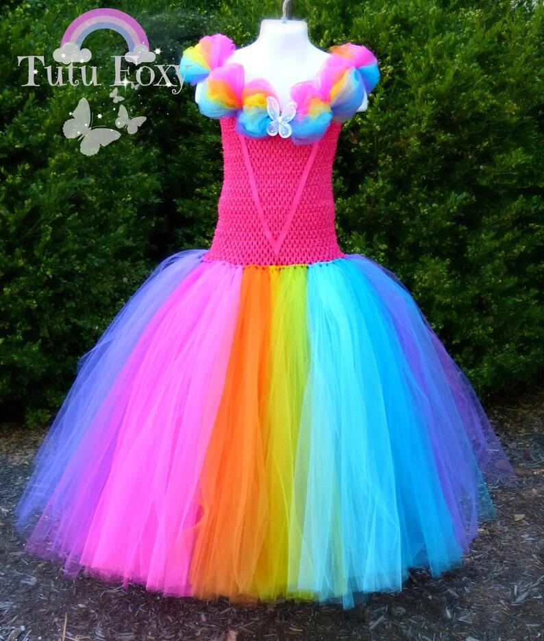 d958d1dc7f78 Rainbow Tutu Dress Rainbow Dress Princess Birthday Princess | Etsy