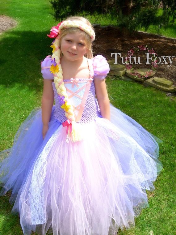 adjustable wrap around character meet /& greet tangled halloween costume birthday party dress Rapunzel Tutu Dress: princess dinner dress