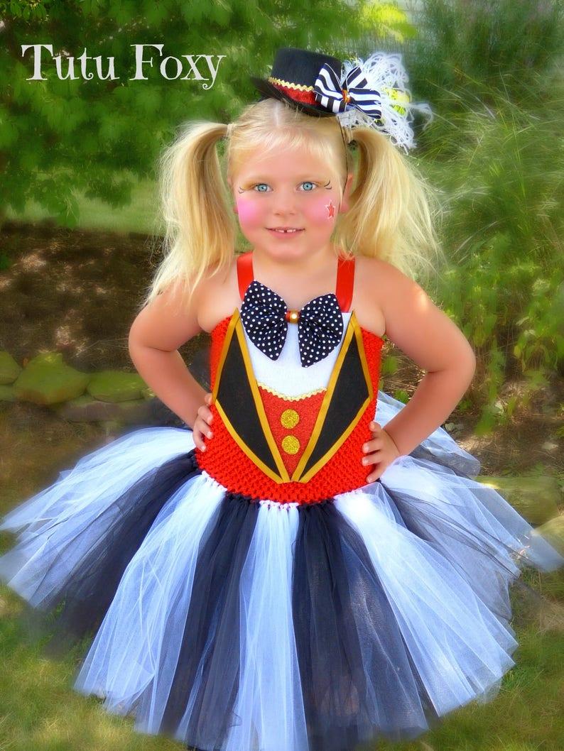 Circus Costume Ringmaster Costume Carnival Outfit Ringmaster Tutu Dress Circus Birthday Outfit Circus tutu dress