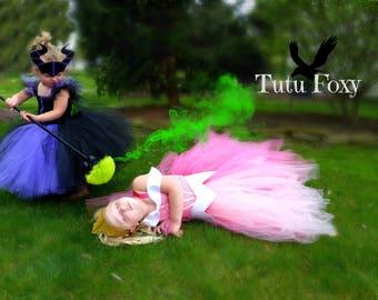 Sleeping Beauty Tutu Dress, Aurora Tutu dress, Sleeping Beauty Costume, Aurora Costume, Pink Princess Dress, Princess Tutu Dress,