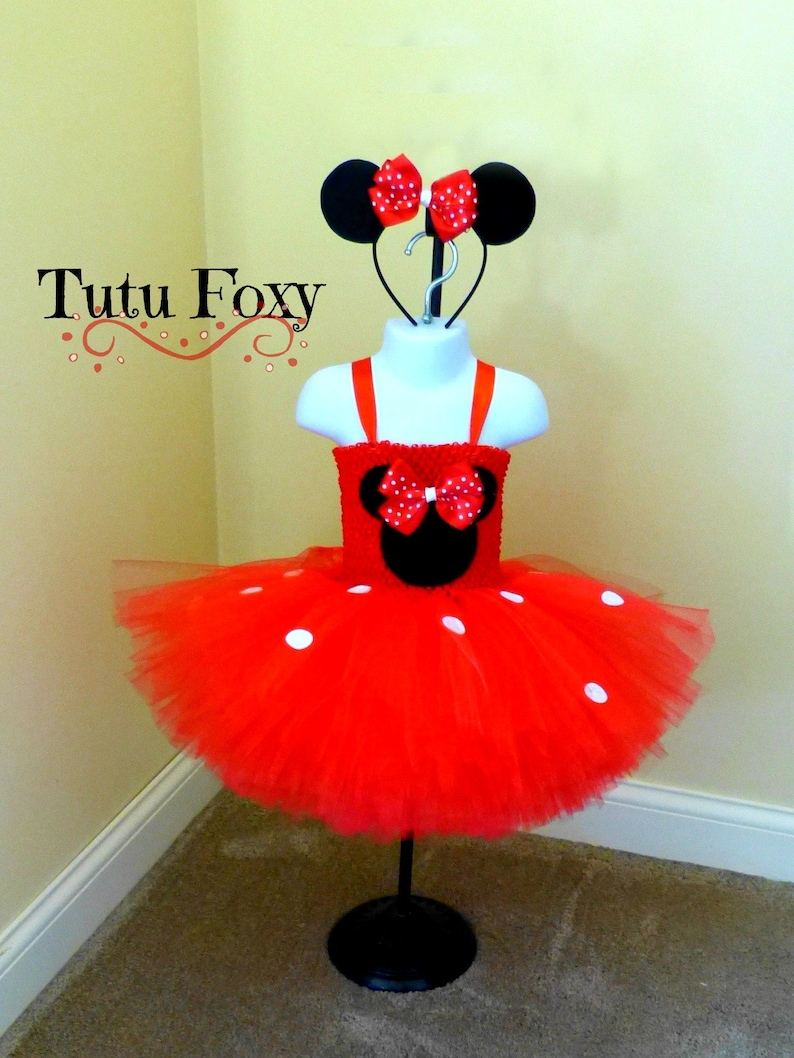 67d2a16cb2e798 Robe Rouge Minnie Mouse Tutu, Minnie Mouse Tutu, Minnie Mouse Costume, Red  Minnie, Minnie Mouse Birthday Outfit, Minnie Mouse Dress,