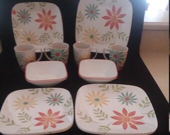 16 Piece Corelle Happy Days Dinnerware Set