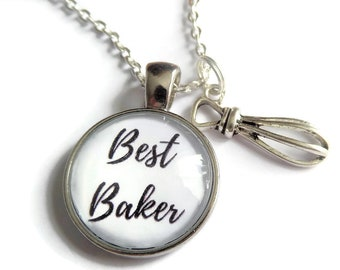 Baker necklace, love to bake gift, baking cake gift, best baker gift, cooking bracelet, love baking gift, baking necklace, sandykissesuk