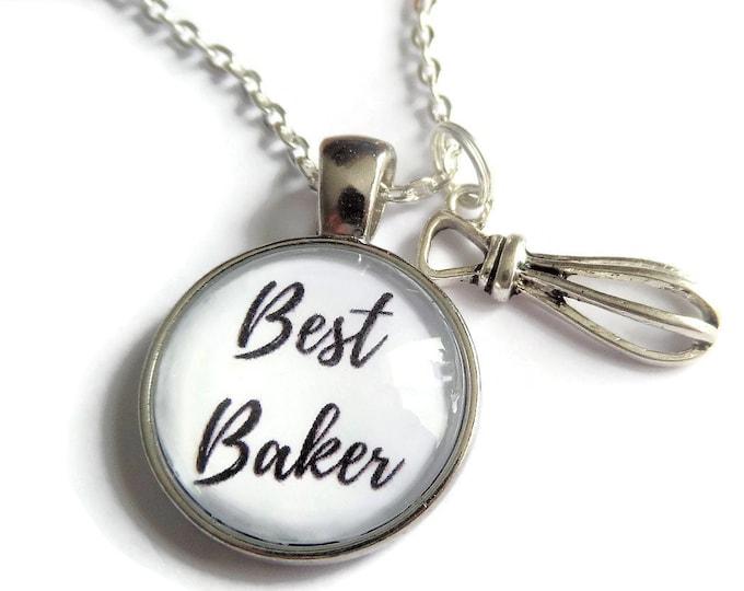 Baker necklace, love to bake gift, baker keyring, best baker gift, baker bracelet, love baking gift, baking necklace, sandykissesuk