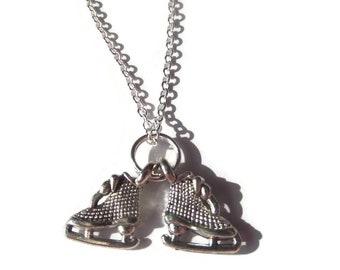 Ice skates necklace,  ice skates gift, skating necklace, skating gift, novelty gift, sports necklace, ice dance necklace, sandykissesuk
