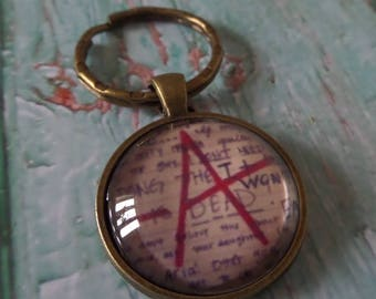 PRETTY LITTLE LIARS inspired A glass dome keyring fan gift