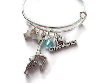 Gymnastics bangle, gymnastics gift, novelty gift, gymnast jewelry, gymnast bangle, xmas gift, gymnastics bracelet, sports gift,sandykissesuk