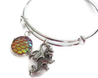 Dragon bangle, dragon bracelet, thrones gift, dragon egg gift, fandom gift, dragon party, knight gift, fantasy gift, dragon favors, sandyuk