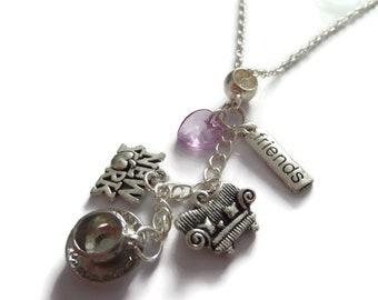 Friends necklace, friends fan gift, friends jewellery, friends new york, tv fandom gift, friends favors, central perk gift, sandykissesuk