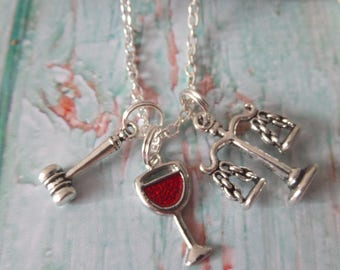 THE GOOD WIFE inspired silver tone necklace Lawyer Justice fan gift Alicia Florrick jewellery Uk