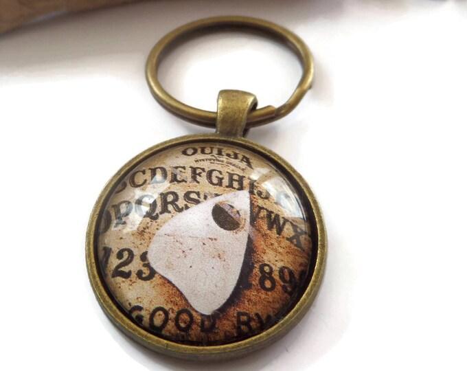 Ouija board keyring, supernatural gift, ouija board gift, spirit board gift, novelty gift, occult keyring, haunted house gift, sandykissesuk