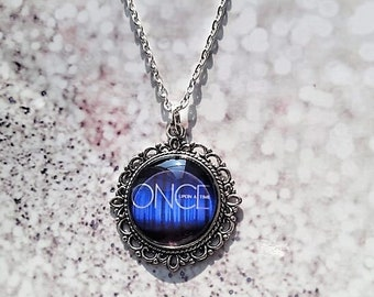 ONCE UPON a TIME gift, once time necklace, once time jewellery, tv necklace, fan gift jewellery, ouat fandom present,  tv jewellery gift