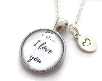 PS I love you, love necklace, lovers gift, anniversary gift, anniversary necklace, love jewellery, romantic gift, sandykissesuk