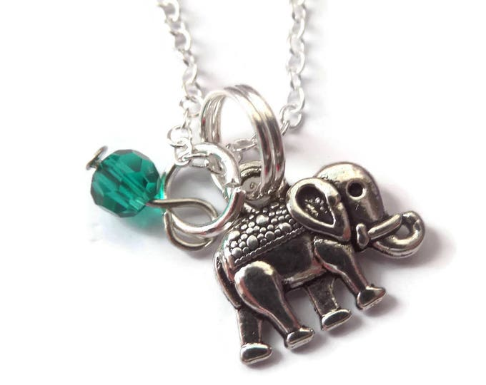 Elephant necklace, elephant gift, love elephants, elephant jewellery, animal jewelry, zoo party favours, jungle gift, party favors gift