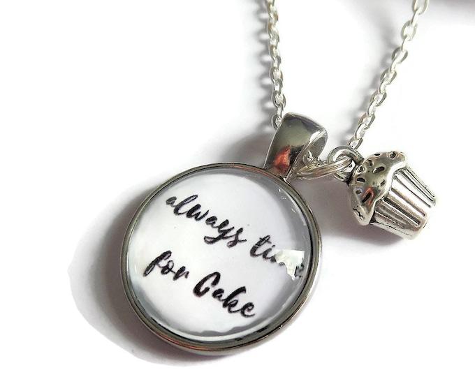 Bake necklace, love to bake gift, cake keyring, time for cake gift, cake bracelet, tea party gift, cake necklace, cupcake gift,sandykissesuk