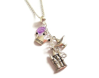 Jasmine necklace, jasmine gift, princess necklace, princess jewellery, genie lamp gift, make a wish gift, princess favors, sandykissesuk